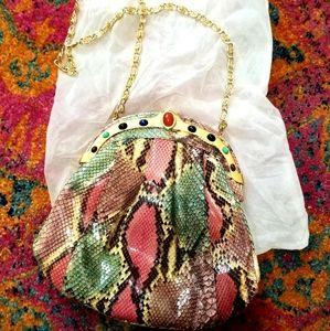 VTG RARE Incredible SnakeSkin Pescara 70s Handbag